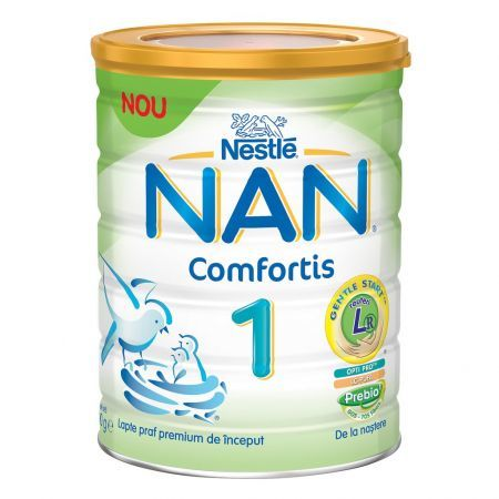 Nestle NAN Бебешко адаптирано мляко 1 Comfortis  0м+  800 гр.